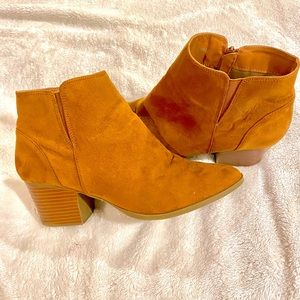 Forever21 Faux Suede Tan Ankle Booties